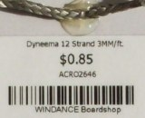 Dyneema 12 Strand 3MM/ft.