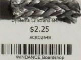 Dyneema 12 Strand 6MM/ft.