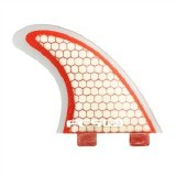 FCS PC-3 Red Graphic Tri Fin