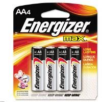 ENERGIZER AA BATT 4 PAC