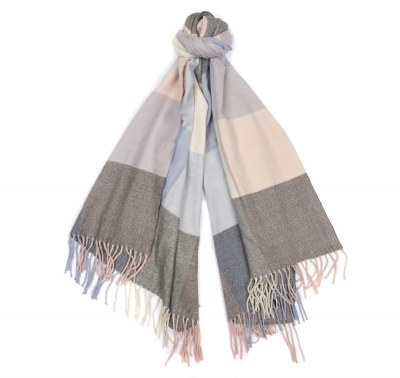 Barbour Pastel Check Scarf