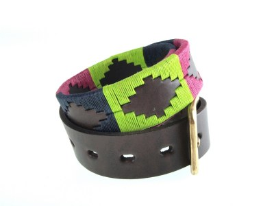 Pioneros Polo Belt Berry/Green/Navy