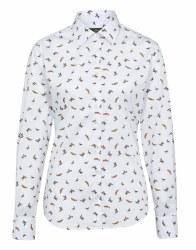 Alan Paine Ladies Lawen Shirt White Print