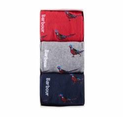 Barbour 3 Pack Sock Pheasant