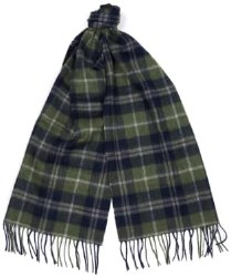Barbour Bolt Tattersall Scarf Forest/Navy