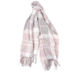Barbour Boucle Scarf Soft Pink