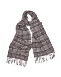 Barbour Lambswool Scarf Black/ Grey