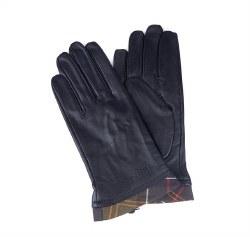 Barbour Tartan Trimmed Leather Glove