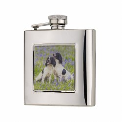 Bisley Spaniel Hip Flask