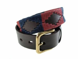 Pioneros Polo Belt Burgandy/Navy