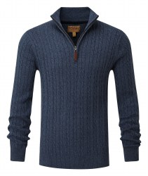 Schoffel 1/4 Zip Cable Knit Jumper