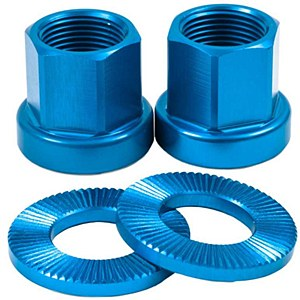 Alloy Axle Nuts Blue 14mm