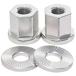 Alloy Axle Nuts Silver 14mm