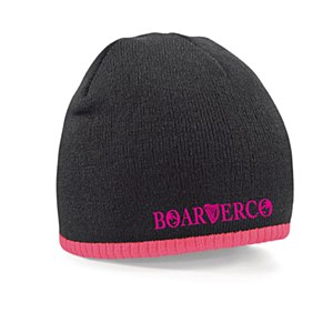 Boarderco Harptext Two Tone Beanie Black Pink