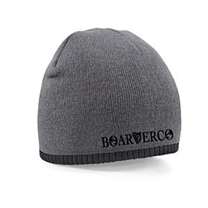 Boarderco Harptext Two Tone Beanie Grey Black