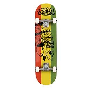 """Seven Skates Reggae Skull Complete 7.8"""""""