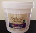 Bio Enamel Lacquer Semi Gloss White 4L Water-based