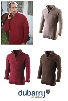 Dubarry Deane Mens Zip Sweater