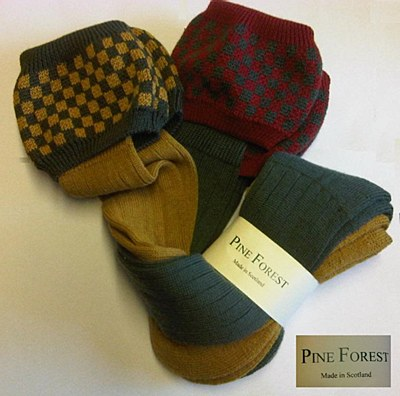 Pine Forest Shooting Socks