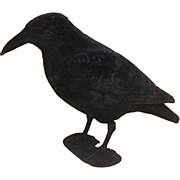 Flocked Crow Decoy with Feet