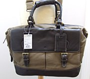 Laksen Canvas & Leather Briefcase