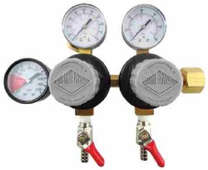 Taprite CO2 Regulator - Double Body With Dual Pressure