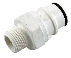 "Polysulfone Disconnect - 1/2"" MPT x Male Plug"