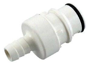 """Polysulfone Disconnect - 3/8"""" Barb x Male Plug"""