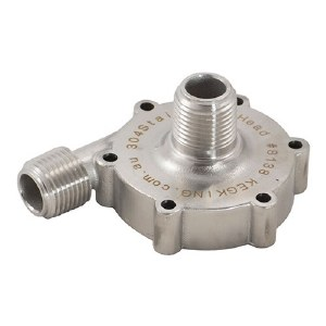 """Keg King MKII Replacement Stainless Steel Pump Head - 1/2"""" MPT"""
