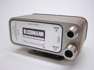 """Blichmann 40 Plate Therminator Chiller With 1/2"""" MPT And Garden Hose Fittings"""