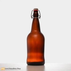 EZ Cap 1 Liter Amber Flip Top Bottles (12/case)