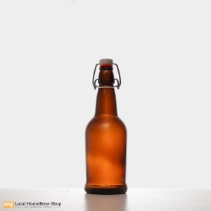 EZ Cap 500 mL Amber Flip Top Bottles (12/case)