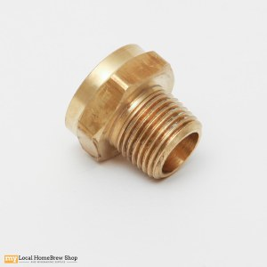 "Brass Hose Adapter - 1/2"" MPT x 3/4"" FGHT"