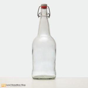 EZ Cap 1 Liter Clear Flip Top Bottles (12/case)