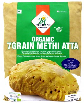 24 Mantra Organic 7 Grain Methi Atta 1kg