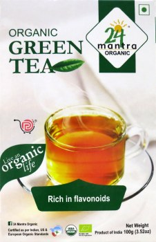 24 Mantra Organic Green Tea 100g