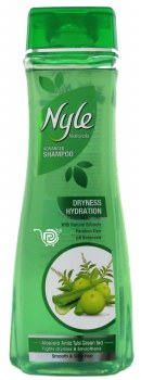 Nyle Green Shampoo 400ml Dryness Control Amla Tulsi