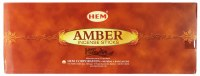 Hem Amber Insence 6 Pack
