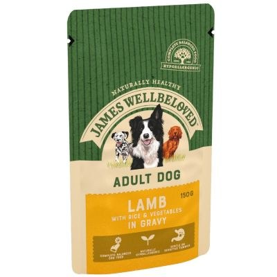 J/WELL POUCHES LAMB ADULT