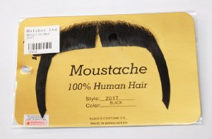 Horseshoe Moustache, Long - Black