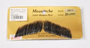 Short Straight Moustache - Dark Grey