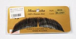 Short Arched Moustache - Dark Grey