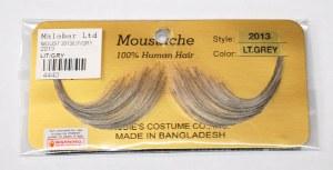 French Handlebar Moustache - Light Grey