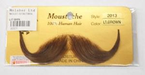 French Handlebar Moustache - Light Brown