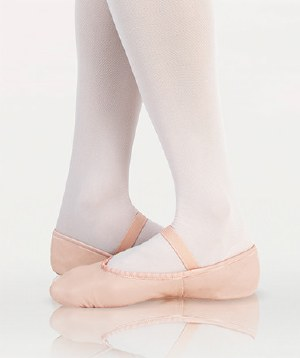 Kids Full Sole Leather Ballet Slipper