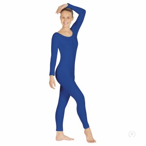 Long Sleeve Unitard - Royal Blue