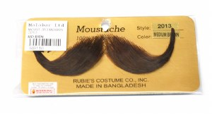 French Handlebar Moustache - Brown