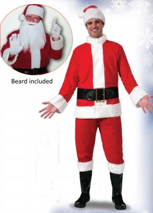 Santa Suit with Beard - Flannel XL