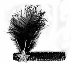 Flapper Headband - Black
