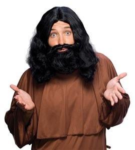 Biblial Wig & Beard Set - Black